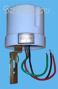 Фотореле для автоматического включения светильников