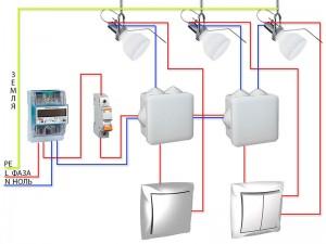Подключение точечных светильников. Монтаж точечных светильников