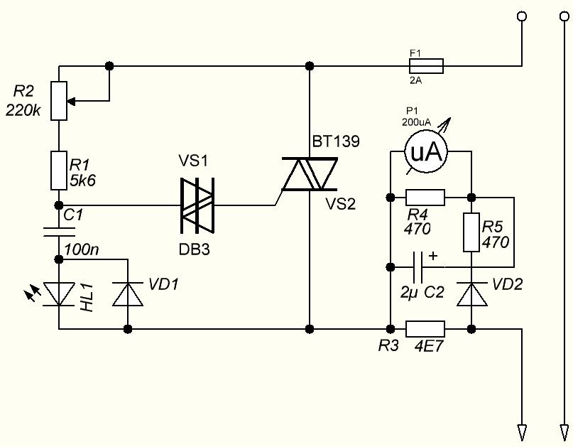 Регулятор напряжения для паяльника схема