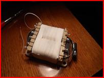 Бандаж из червячного хомута для трансформатора