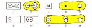 Обозначения на планах электрооборудования и электроприемников