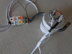 соединение подогревателя к выключателю