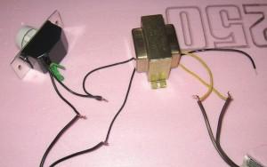 подсоединяем реостат и трансформатор