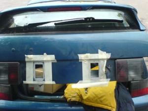 вентиляционные отверстия непосредственно в крышке багажника