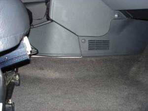 Установка инвертора под сиденье
