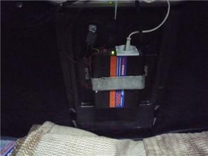Установка инвертора в багажник