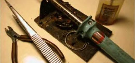Монтажные инструменты для начинающих радиолюбителей
