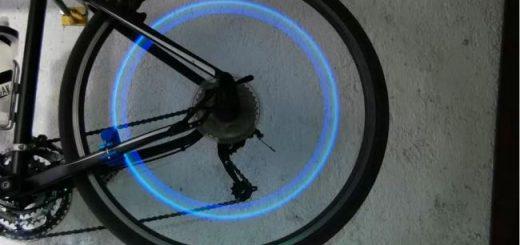 Велосипед с подсветкой из светодиодов