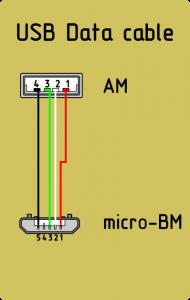 Распайка usb am и micro usb bm, для зарядки и передачи данных на компьютер
