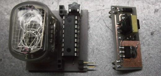 Электронные часы на ГРИ с одной цифрой