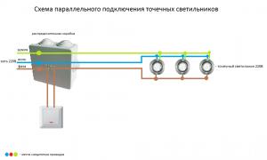 Подключение точечных светильников с трансформатором и без: схема, рекомендации