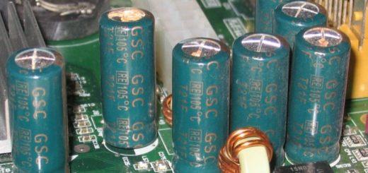 Замена вздувшихся конденсаторов на плате