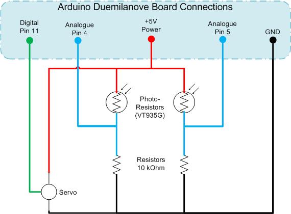 Солнечный трекер arduino