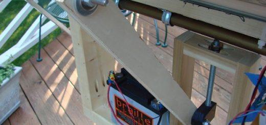 привод наклона панелей