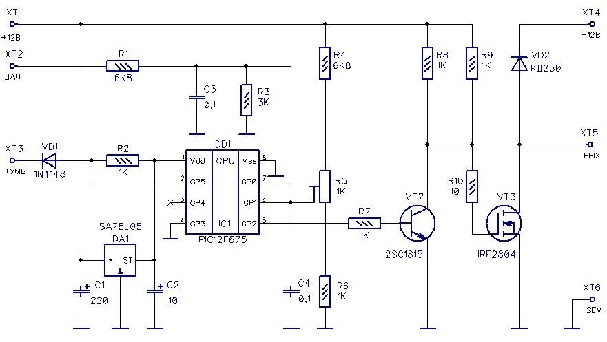 Схема контроллера для вентилятора