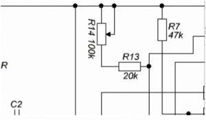 многооборотного подстроечного резистора на 100 кОм