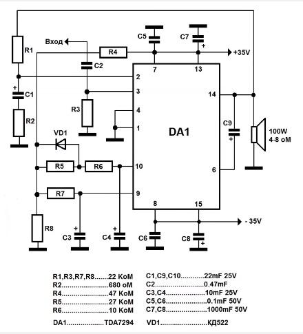 Усилители звука своими руками на микросхеме tda7294