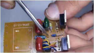 изъять из платы электронного трансформатора