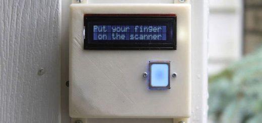Биометрический замок для гаражных ворот