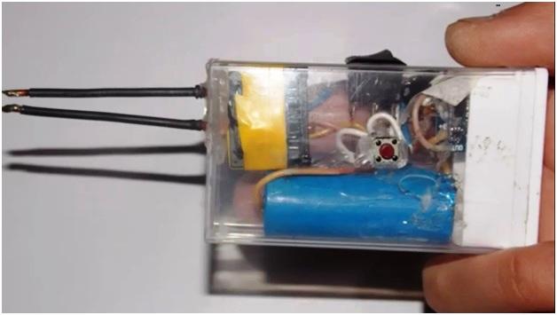 Электрозажигалка на батарейке своими руками