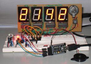 Загрузка скетча на цифровые часы