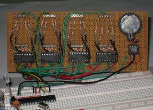 Arduino часы со снятыми 7-сегментными LED-индикаторами