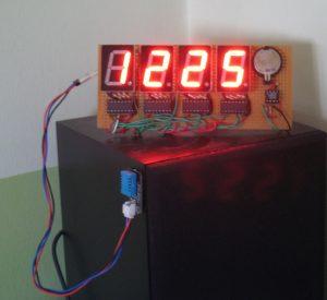 Arduino часы с датчиком DHT11