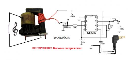 Как собрать дома «поющую дугу» или по научному ионофон