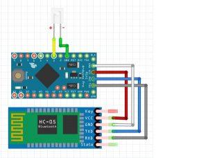 Монтажная схема универсального пульта на Arduino