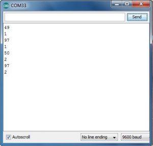 Имитация передачи данных с телефона на Arduin