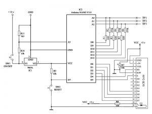 Электрическая схема мультитестера на Arduino