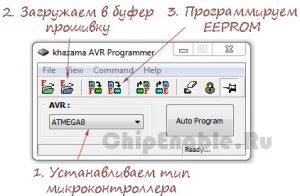 Программирование EEPROM памяти