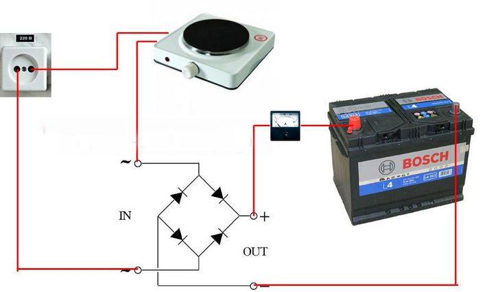 Как сделать диодный мостик для зарядного устройства