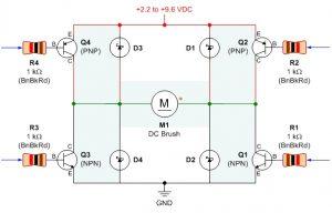 Мостовая схема на транзисторах,управляемая от микроконтроллера