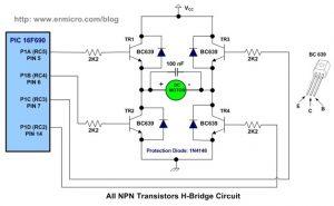 Заводской сборки мостовая схема на транзисторах, управляемая от микроконтроллера