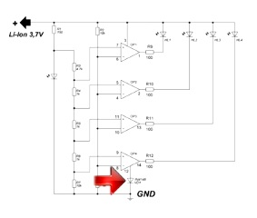Самодельный индикатор уровня заряда для Li-ion аккумулятора